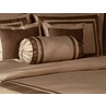 Taupe and Chocolate Hotel Spa Collection Neckroll Bolster Pillow