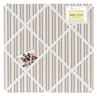 Taupe Stripe Fabric Memory/Memo Photo Bulletin Board for Giraffe Collection by Sweet Jojo Designs