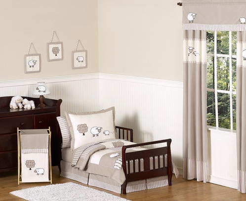 Little Lamb Toddler Bedding - 5pc Set by Sweet Jojo Designs - Click to enlarge