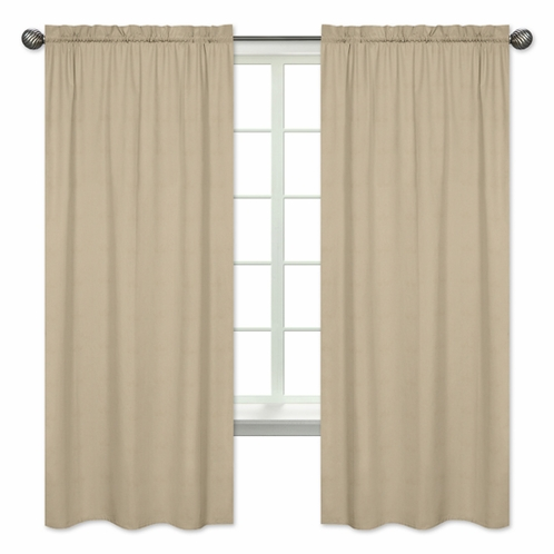 Taupe Window Treatment Panels by Sweet Jojo Designs - Set of 2 - Click to enlarge