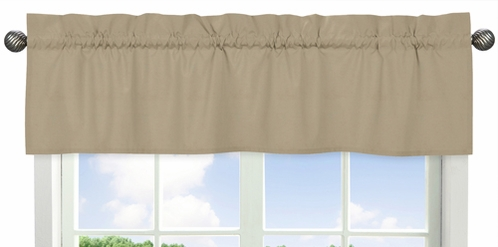 Taupe Window Valance by Sweet Jojo Designs - Click to enlarge