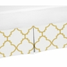 Toddler Bed Skirt for White and Gold Trellis Childrens Bedding Sets