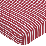 Treasure Cove Fitted Crib Sheet for Baby and Toddler Bedding Sets by Sweet Jojo Designs - Red Stripe Print