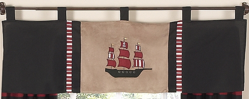 Treasure Cove Pirate Window Valance by Sweet Jojo Designs - Click to enlarge