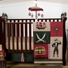 Treasure Cove Pirate Baby Bedding - 4pc Crib Set