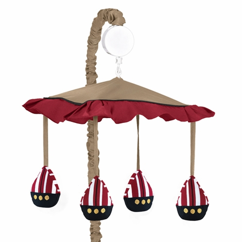 Treasure Cove Pirate Musical Baby Crib Mobile by Sweet Jojo Designs - Click to enlarge