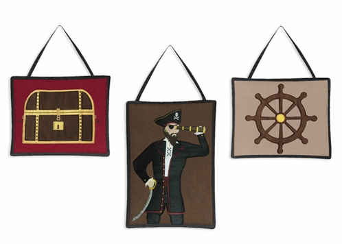 Treasure Cove Pirate Wall Hanging Accessories by Sweet Jojo Designs - Click to enlarge