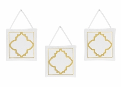 Trellis Wall Hanging Accessories for Gold, Mint, Coral and White Ava Collection