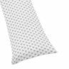 Triangle Full Length Double Zippered Body Pillow Case Cover for Sweet Jojo Designs Earth and Sky Sets