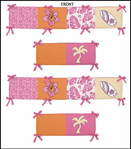 Tropical Hawaiian Baby Crib Bumper Pad by Sweet Jojo Designs - Click to enlarge