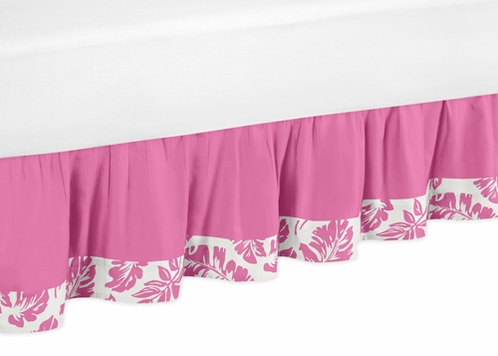 Tropical Hawaiian Bed Skirt for Surf Toddler Bedding Sets - Click to enlarge