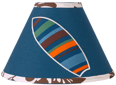 Tropical Hawaiian Lamp Shade for Boys Surf Bedding by Sweet Jojo Designs - Click to enlarge