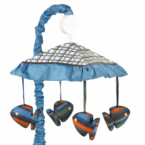Tropical Hawaiian Musical Baby Crib Mobile for Sweet Jojo Designs Surf Bedding - Click to enlarge