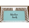 Turquoise Adventure Awaits Baby Boy Girl or Toddler Fitted Crib Sheet with Black Inspirational Quote by Sweet Jojo Designs