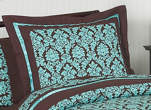 Turquoise And Brown Bella Childrens Teen Bedding Pc Twin - Blue and brown teen bedding