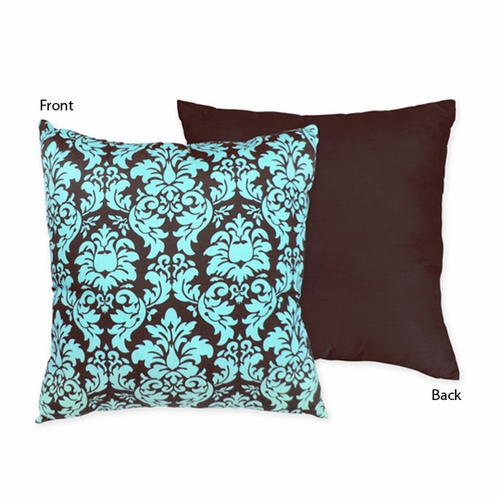 Turquoise and Brown Bella Decorative Accent Throw Pillow by Sweet Jojo Designs - Click to enlarge