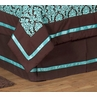 Turquoise and Brown Bella Queen Kids Children's Bed Skirt by Sweet Jojo Designs