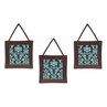 Turquoise and Brown Bella Wall Hanging Accessories by Sweet Jojo Designs