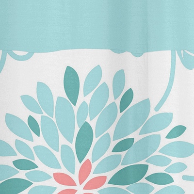 Turquoise And Coral Shower Curtain. Turquoise and Coral Emma Kids Bathroom Fabric Bath Shower Curtain only  39 99