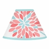 Turquoise and Coral Emma Lamp Shade by Sweet Jojo Designs