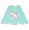 Turquoise and Gray Chevron Zig Zag Lamp Shade by Sweet Jojo Designs