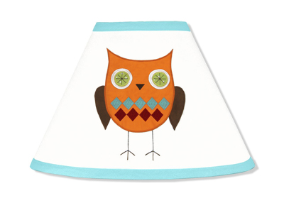 Turquoise And Lime Hooty Owl Lamp Shade By Sweet Jojo Designs Only $27.99