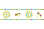 Turquoise and Lime Layla Children and Kids Wall Border by Sweet Jojo Designs