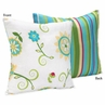Turquoise and Lime Layla Decorative Accent Throw Pillow