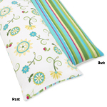 Turquoise and Lime Layla Full Length Double Zippered Body Pillow Case Cover