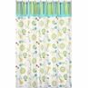 Turquoise and Lime Layla Kids Bathroom Fabric Bath Shower Curtain