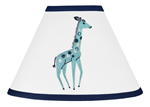 Turquoise and Navy Blue Giraffe Lamp Shade for Mod Jungle Collection by Sweet Jojo Designs