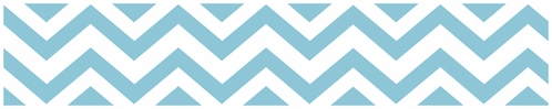 Turquoise and White Chevron Zig Zag Kids and Baby Modern Wall Paper Border - Click to enlarge