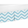 Turquoise and White�Zig Zag Crib Bed Skirt for Chevron�Baby Bedding Sets by Sweet Jojo Designs