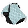 Turquoise Blue and Grey Arrow Baby Infant Car Seat Carrier Stroller Cover by Sweet Jojo Designs