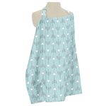 Turquoise Blue and Grey Arrow Infant Baby Breastfeeding Nursing Cover Up Apron by Sweet Jojo Designs