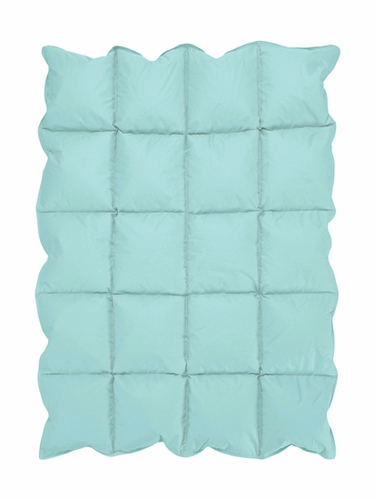 Turquoise Blue Baby Crib Down Alternative Comforter / Blanket - Click to enlarge