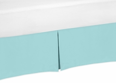 Turquoise Blue Crib Bed Skirt for Baby Bedding Sets by Sweet Jojo Designs