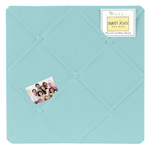 Turquoise Blue Fabric Memory/Memo Photo Bulletin Board