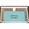 Turquoise Climb Every Mountain Baby Boy Girl or Toddler Fitted Crib Sheet with Black Inspirational Quote by Sweet Jojo Designs