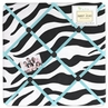 Turquoise Funky Zebra Fabric Memory/Memo Photo Bulletin Board