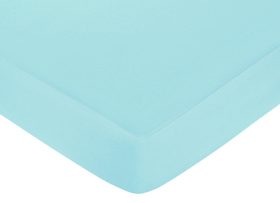 Turquoise Funky Zebra Fitted Crib Sheet -Turquoise - Click to enlarge