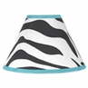 Turquoise Funky Zebra Lamp Shade by Sweet Jojo Designs