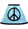 Turquoise Groovy Peace Sign Tie Dye Lamp Shade by Sweet Jojo Designs