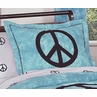 Turquoise Groovy Peace Sign Tie Dye Pillow Sham