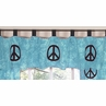 Turquoise Groovy Peace Sign Tie Dye Window Valance by Sweet Jojo Designs