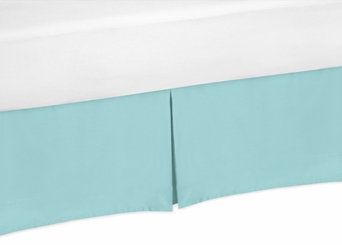 Turquoise Queen Bed Skirt for Emma Bedding Sets - Click to enlarge