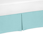 Turquoise Toddler Bed Skirt for Emma Girls Kids Childrens Bedding Sets