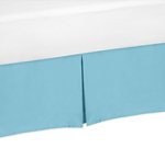 Turquoise Toddler Bed Skirt for Turquoise and White Chevron Kids Childrens Bedding Sets