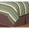 Queen Bed Skirt for Green and Brown Ethan Kids Childrens Bedding Sets by Sweet Jojo Designs