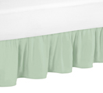 Twin Bed Skirt for Gold, Mint, Coral and White Ava Bedding Sets